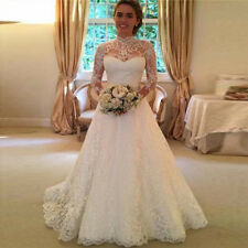 White ivory Princess Marriage Wedding Dress Bridal Ball Gowns Formal Dress 8-14