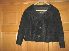 Women's SUPERB Short Black Persian Lamb? Fur Coat