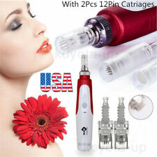 Electric Derma Pen Micro Needle Stamp Auto Anti Aging Skin Facial Care US KY
