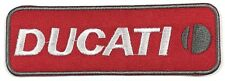 Ducati Moto Motorcycle Red Iron On Embroidered Patch