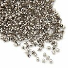 1000X Remaches Tachuelas Cobre Color Plata para Bolso Ropa 2.5mm T5