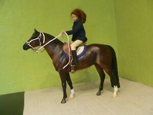 Breyer Traditional horse,saddle,tack and rider ad blanket.