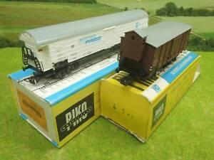 Piko H0 Kühlwagen DR + Gedeckter Güterwagen SNCF OVP  (NW) E1023