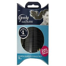 Goody Ouchless No Metal Elastics Storage Pack, Black 70 ea