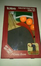 Ping Pong Tabletop Game Set NEW Most Any Table Anytime by Totes