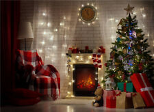 Christmas Photo Background Vinyl Brick Wall Photography Backdrops for Baby 7x5FT