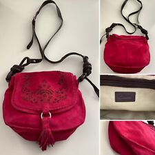Preloved - Pink Clarks 100% Suede Leather Crossbody Bag