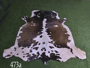 """New Cowhide Rugs Hair On COW HIDE Rugs Area Cow Skin Leather Rugs (65"""" x 51"""")"""