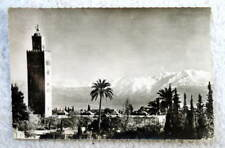 POSTCARD MARRAKECH MOROCCO MAROC VIEW KOUTOUBIA MOSQUE MOUNTAINS #2J