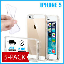 5IN1 Transparent Cas Gel Clear Case Cover Etui Coque Silicone For iPhone 5