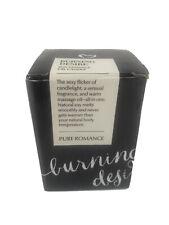 Pure Romance Burning Desire Soy Massage Oil Candle  NIB