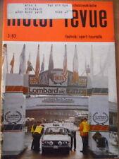 Tschechoslowakische MOTOR REVUE Nr. 3 - 1983 Skoda Lombard RACrally Babetta 210