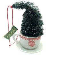 Midwest of Cannon Falls Ornament Mini Tea Cup Christmas Tree Holiday Gift