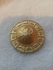One (1)  Versace Medusa Head Gold Tone Metal Button