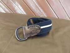Abercrombie & Fitch AF  Belt Moose Logo Size 30 Navy with White