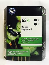 HP Genuine 63XL Black Twin In Retail Box Exp.2019 For HP ENVY 4512, 4513, 4520