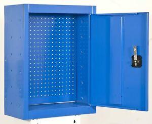 27-in Steel Garage Wall-Mounted Storage Cabinet Power Tool Heavy-Duty BLUE