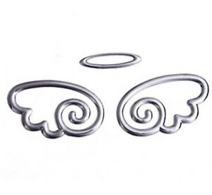 Cherub wings & Halo Car Emblem Decal chromed  Kit Fits Around Car Logo uk seller