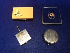 Lot Of 4 Vintage Compacts