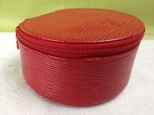 Auth Louis Vuitton Epi Ecrin Bijoux Jewelry Case Multicase Pouch Red 5D081960