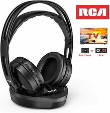 Wireless TV Headphones, Over Ear Hi-Fi Stereo Headset for TV Watching PC VCD, He