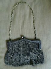 """Vintage Chain Mail Soldered Metal Alloy Mesh Purse With Chain and Clasp 6"""""""