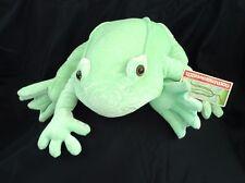 "NWT Commonwealth FROG ""Hug-A Plush"" 22"" Crushed Velvet Stuffed Toy • MINT GREEN"