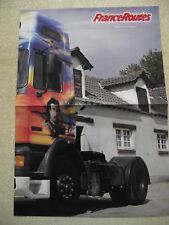 FRANCE ROUTES Poster  :  DAF 95-350 Transport BRADIN Graphite Garage : BERLIET