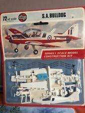 vintage maquette AIRFIX 70' avion S.A. BULLDOG