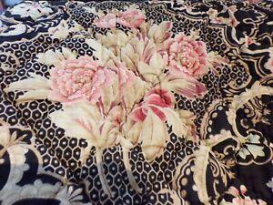 BOUTIS Ancien Réversible Motif floral Bouquet de Pivoines     210 cm x   230 cm