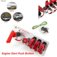 12V LED Toggle Racing Car Ignition Switch Panel Engine Start Push Button 5 in 1