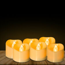 12pcs LED Flameless Candle Battery Operated Tea Light Flickering Wedding NP2C