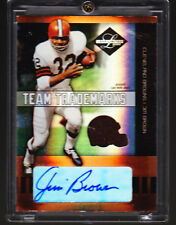 Jim Brown Auto Jersey 2004 Leaf Limited Authentic 1/25 !!!! HOF