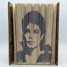 Book Folding Pattern - Mark Measure Cut & Fold - Michael Jackson Portrait