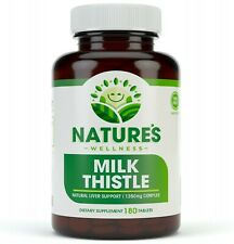 Milk Thistle 1350mg - 180 Count - Standardized Silymarin Extract for Maximum