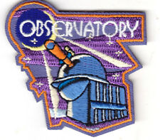 """OBSERVATORY"" - IRON ON EMBROIDERED PATCH-ASTROLOGY, UNIVERSE, STARS, TELESCOPE"