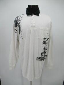P5523 VTG Men's Polo Ralph Lauren Light House Mermaid Polo Shirt Size XL