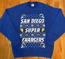 San Diego Super Chargers Jerzees NuBlend Blue Sweatshirt Used Men's Size Large