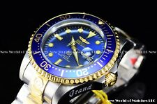 Invicta Men's 47mm Grand Diver Automatic Two Tone Blue Dial Gold Case SS Watch