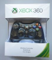 Official Microsoft Xbox 360 Wireless Controller BLACK/WHITE - NEW! CA Stock