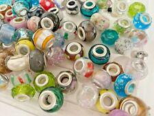 European Beads Charm Mix Color Lampwork Glass fit Bracelet 14x8mm 20 pcs