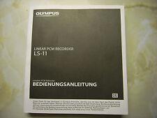 Olympus LS11 Registratore pcm lineare Bedienungsanleitung, informatico, инструкция,
