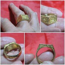 Size 10 Brass Ring LP Doo Sakae Temple 1976 Thai Holy Amulet K134-10