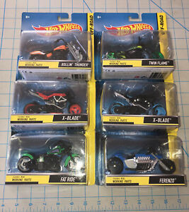 6 Hot Wheels Off-Road x Blade Ferenzo Twin Flame Fat Ride Rollin Thunder Bikes