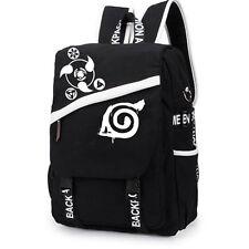 Anime Naruto Sharingan Konoha Leaf Backpack Canvas Student Bag Rucksack Knapsack