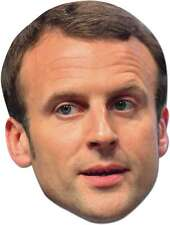 Emmanuel Macron French Politician Single 2D Card Party Face Mask