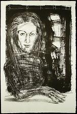 """DDR-arte. """"grande donna"""". grande lithogr. Steffen Volmer (* 1955 D) firmato a mano"""