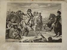 Gravure NAPOLEON EMPIRE BATAILLE EYLAU RUSSIE POLOGNE MARECHAL MURAT RUSSIA 1824