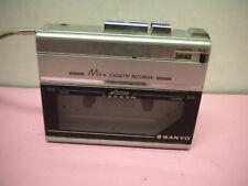 Sanyo M1120 Cassette Player Mini Recorder Portable Speaker Speed Control