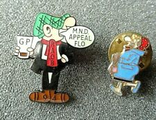ANDY CAPP  & WIFE FLO ENAMEL LAPEL  BADGES